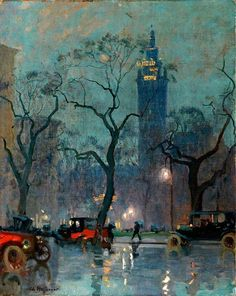 Charles Constantin Hoffbauer - Madison Square, 1906