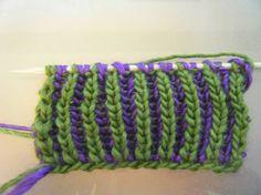 2 colour brioche stitch