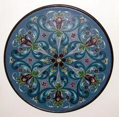 "Norwegian ""rosemaling"" design art. Reminds me of my grandma's kitchen :)"