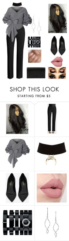 """""""Stop"""" by lizziesusan on Polyvore featuring Lafayette 148 New York, Charlotte Russe, Yves Saint Laurent, Chanel and Avon"""