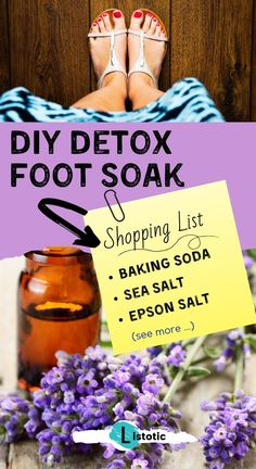 A DIY recipe for a homemade foot soaks to detox your tired feet. A DIY recipe for a homemade foot soaks to detox your tired feet. Simple ingredients combine together for an u Homemade Goo Gone, Weed Killer Homemade, Homemade Detox, Foot Detox Soak, Homemade Foot Soaks, Homemade Cold Remedies, Homemade Jewelry Cleaner, Tired Feet, Cleanse Your Body
