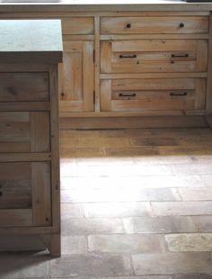 French antique reclaimed terra-cotta flooring  Tone on Tone June