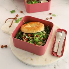 @monbento • Photos et vidéos Instagram Portable Snacks, Savory Muffins, Salad In A Jar, Bento Box, Bagel, Sushi, Dinner Recipes, Lunch, Homemade