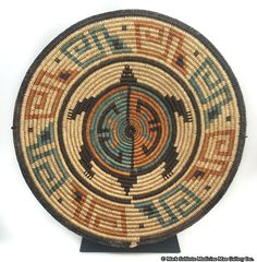 Artist Unknown - Navajo Tray with Turtle Pictorial
