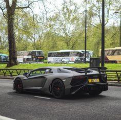 Lamborghini Aventador Super Veloce Coupe painted in Grigio Titans  Photo taken by: @tfjj on Instagram