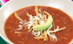 Lunch/Dinner: Epicure's Chicken Tortilla Soup calories/serving) serve with side salad Mexican Tortilla Soup, Mexican Soup Recipes, Chicken Tortilla Soup, Chicken Soup Recipes, Fiesta Chicken, Taco Soup, Great Recipes, Favorite Recipes, Yummy Recipes
