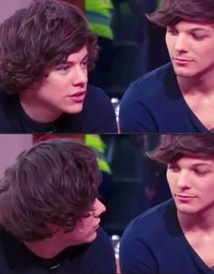 BUT look at how Louis looking at him like it's so awwe. Larry Stylinson everybody