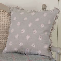 Our Mika print in Dove Grey looks elegantly stylish. Mix with brights and bolds for a fun cushion combination. cotton with a beech fan edge and feather filled cushion pad. Cushion Arrangement, Susie Watson, Dream Home Design, Dove Grey, Cushion Pads, Shabby Chic Decor, Cotton Fabric, Cushions, Hand Painted
