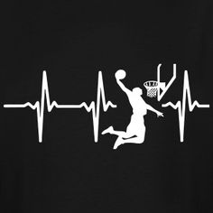 My heart beats for basketball by funkmasterUSA | Spreadshirt Basketball Mom Shirts, Basketball Teams, Basketball Party, College Basketball, Basketball Shirt Designs, Basketball Videos, Basketball Tattoos, Basketball Skills, Basketball Gifts