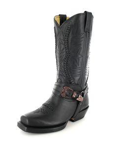 Rancho Boots 9064 25 Tony Black Waxy