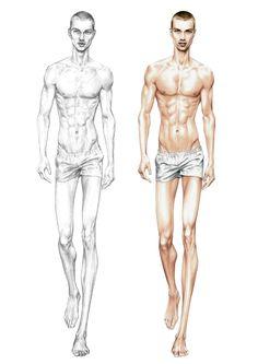 Alessia Zambonin - Practicing sketch and rendering man base figure for fashion #fashionsketch #manfashion #bodyproportions #fasiondrawing #pantone #copic # fashionillustration #man #boy #male #model