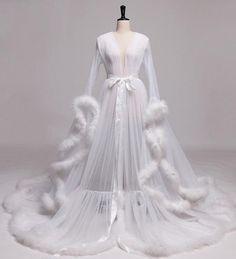 Lingerie Party, White Lingerie, Bridal Lingerie, Luxury Lingerie, White Bridal Robe, Bridal Robes, Fancy Robes, Fantasy Dress, Prom Dresses