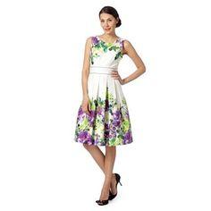 Debut Ivory floral border prom dress- at Debenhams.com