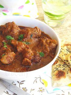 Spicy Indian Chicken Kolhaprui - chicken with yogurt and coconut milk