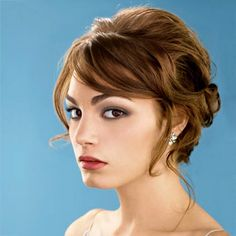 I really like this hairstyle. Could add a hairband or barrette even.