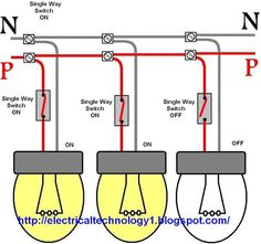 How to control each lamp by separately switch in parallel lighting circuit? - Electrical Technology