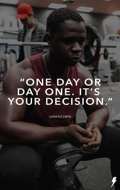 """One day or day one. It's your decision. One Day, Athlete, Fitness, Movies, Movie Posters, Inspiration, Biblical Inspiration, Film Poster, Films"