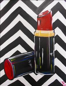 "Still life painting with OP inspired background. (Source: ""Painting with a Twist"" Instructor: Kait McKey) -canvas I love! Diy Canvas, Canvas Art, Canvas Ideas, Canvas Paintings, Easy Paintings, Beautiful Paintings, Wine And Canvas, Lipstick Art, Damier"