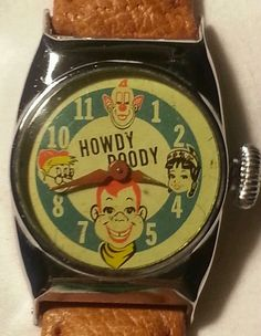 Vintage 1954 Howdy Doody and friends character  watch, hand wind.