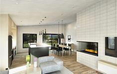 Plan de maison Ë_146 | Leguë Architecture Modern House Floor Plans, Contemporary House Plans, Plane, House Design, Flooring, How To Plan, Table, Furniture, Home Decor