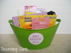 """Sweet idea - the new baby in the family """"gives"""" their older sibling a present Decorating Cents: Big Sister Kit"""