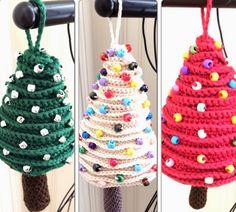 Mini Christmas Tree Ornaments Free Patterns