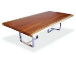 Rotsen Furniture Single Slab and Stainless Steel Dining Table