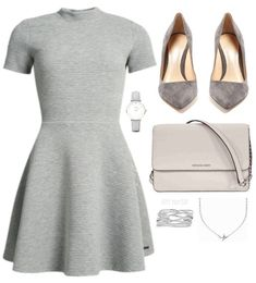 This iconic title isn't often used to grey as much as black but this colour, which is overlooked too much, is demure and delicate. Mode Outfits, Girly Outfits, Cute Casual Outfits, Stylish Outfits, Winter Fashion Outfits, Fashion Week, Look Fashion, Fashion Dresses, Mode Chic