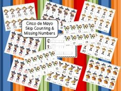 Skip Counting & Missing Numbers - Cinco de Mayo