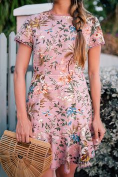 Outfit Details: Look Athena Procopiou Dress c/o (more sizes here, maxi skirt version here), Preston & Olivia Hat, Castaner Espadrilles, Poolside… Dressy Outfits, Cute Outfits, Fashion Outfits, Fashion Trends, Moda Floral, Gal Meets Glam, Rock, Spring Summer Fashion, Spring Style