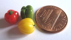 Dollhouse Miniature Food Peppers in 12th Scale