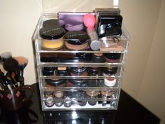 Muji 2 Drawer Large Acrylic Organizers for Makeup