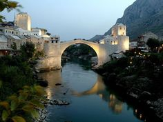 Mostar - Bosnia - This bridge over the Neretva River, known to locals as the Stari was destroyed by war in 1993, but then rebuilt with the help of the international community.