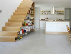 Storage with stairs