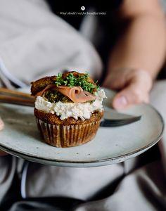 Savoury muffins with salmon
