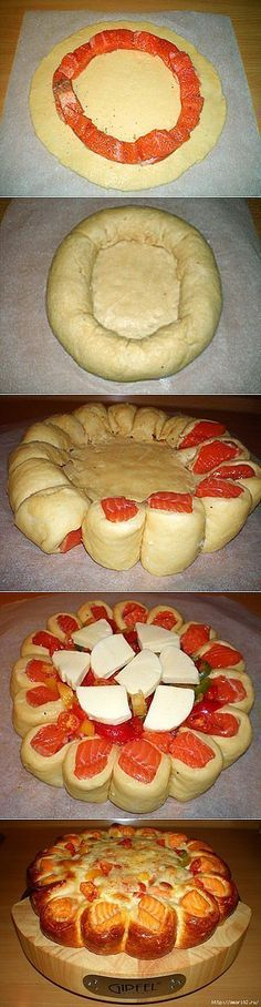 Delicious and beautiful fish pie. Pastry Recipes, Baking Recipes, Fish Recipes, Seafood Recipes, Seafood Bake, Russian Recipes, Food Design, No Cook Meals, Love Food