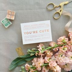 xoxo, your secret admirer | rose gold foil stamped mini notes from Smitten on Paper