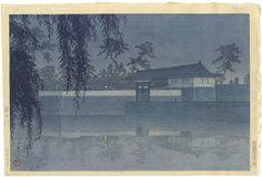 20 Views of Tokyo Series, Sakurada Gate by Kawase Hasui / 東京二十景 桜田門 川瀬巴水