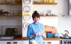 Tamsin Hill in her cheerful kitchen