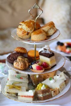 Afternoon tea at Montage Beverly Hills.