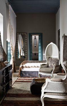 Ryad Dyor Marrakech, Morocco. TravelPlusStyle.com | I like the color scheme