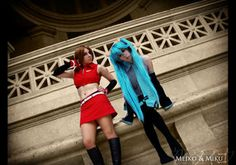 Miku and Meiko Cosplay 02 by Bastetsama-Cosplay