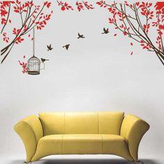 osell wholesale dropship Fashionable beautiful big Tree birds Wall Sticker $6.33