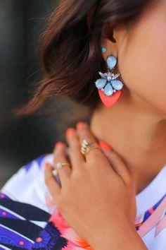 Pretty drop earrings