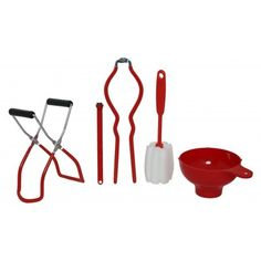 Victorio Canning Kit: Canning Funnel, Magnetic Lid lifter, Jar lifter, Jar wrench, and Jar Cleaning Brush