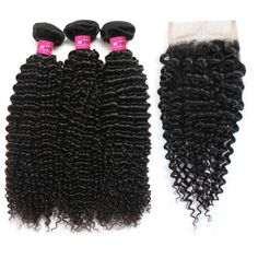 """Peruvian Virgin Remy Hair Sew Ins Deep Wave Hair Weave Bundles With 4x4 Lace Closure Cheap Hair Extensions Products Among Black Women Use Coupon Codes """"onemore5"""" For $5 Off ! #Peruvianhair  #hairbundles #laceclosure"""