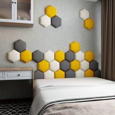 Bed Headboard Design, Bedroom Furniture Design, Headboards For Beds, Bed Design, Home Living Room, Living Room Decor, Room Wall Decor, Interior Design, 3d Wall