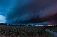 13.08.2014 - Shelfcloud der sich bildenden Superzelle @ Bad Radkersburg (STMK)