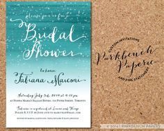 Printable Bridal Shower Invitation  Customized by ParkbenchPaperie, $17.00