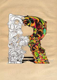 The letter R | Robin : identity : 19 | illustration | color | ram2013